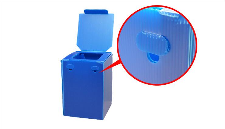 ②排便袋の滑り止め防止フック