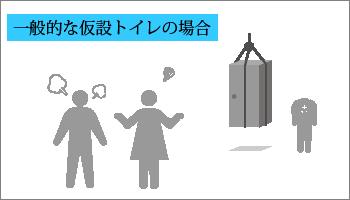 従来の仮設トイレの場合