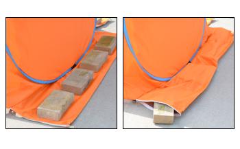 テント下部が長いから設置しやすい!