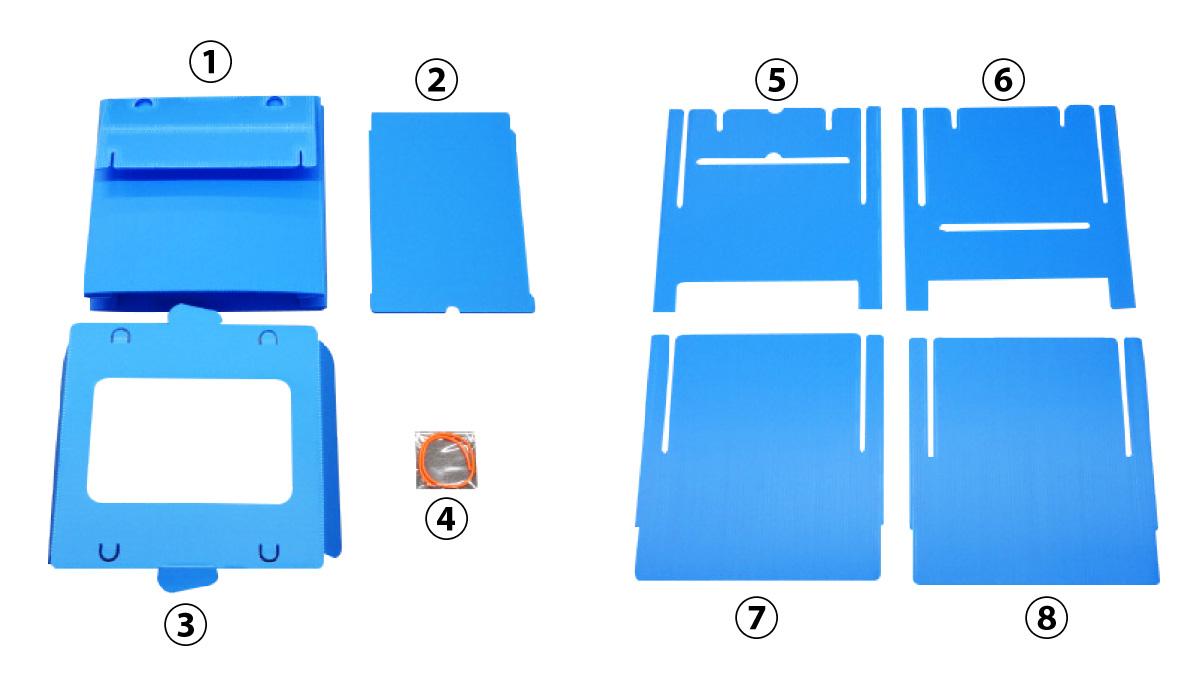 収納時はコンパクト!組み立ても簡単。