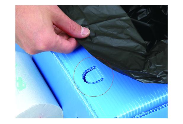 排便袋を固定できる U字フック